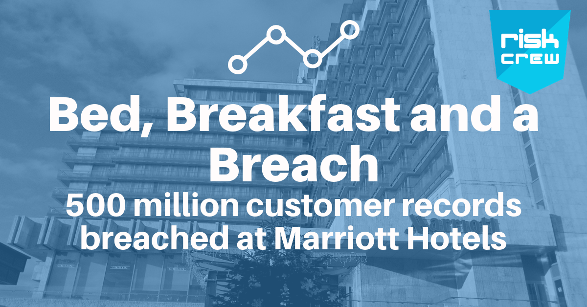 500 million customer records breached at Marriott Hotels