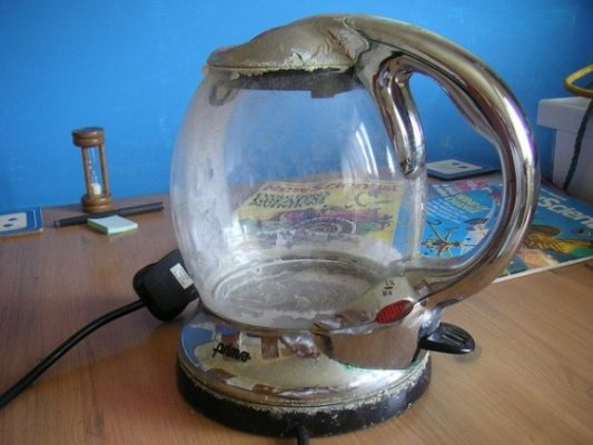 a photograph of a smart kettle